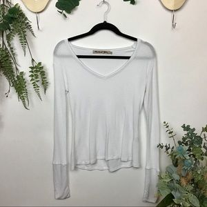 ANTHRO MICHAEL STARS Thermal Top Waffle Henley
